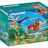 Конструктор Playmobil Вертолет для приключений с птеродактилем, 9 деталей