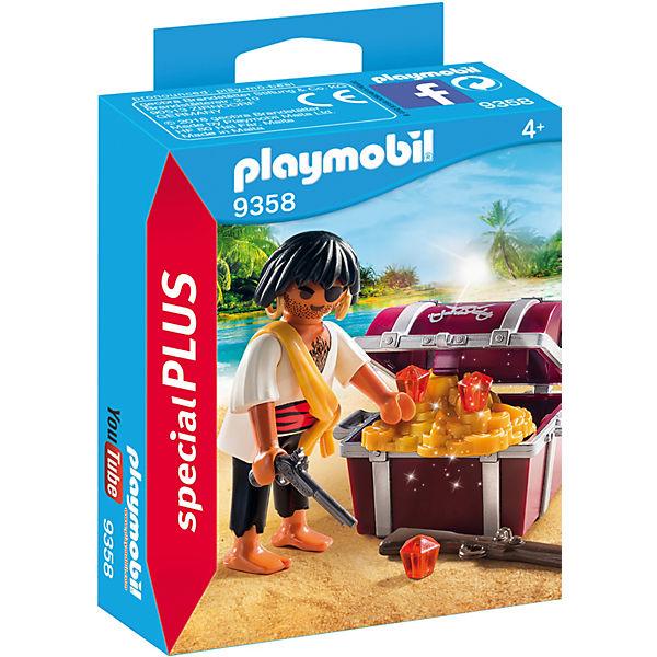 PLAYMOBIL® 9358 Pirat mit Schatzkiste, PLAYMOBIL Pirates