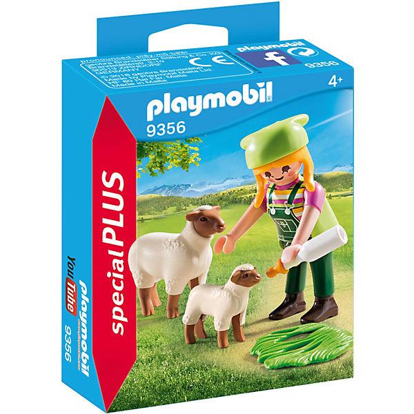 Playmobil 9356 Bäuerin Mit Schäfchen Playmobil Country Mytoys