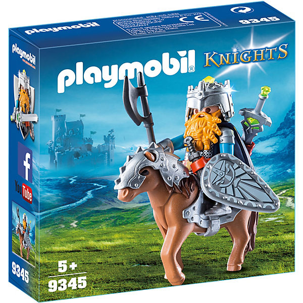 Playmobil 9345 Zwerg Und Pony Mit Rüstung Playmobil Knights