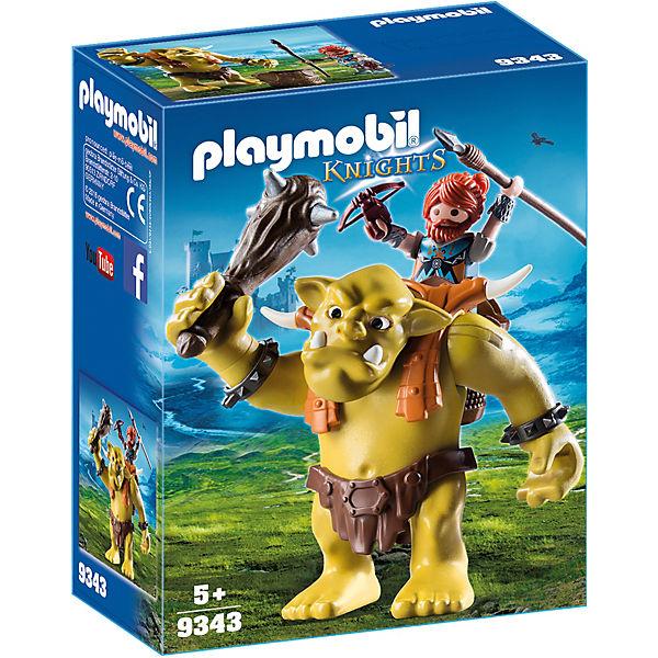 Playmobil 9343 Riesentroll Mit Zwergenrucksack Playmobil Knights