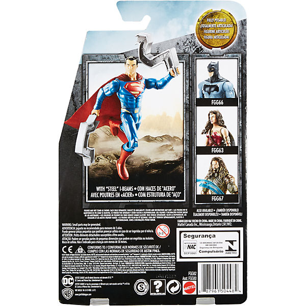 "Фигурка Mattel ""Batman Лига справедливости"" Супермен, 15 см"