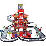 """Парковка Полесье """"Автопарк"""" 4 уровня, красный (в коробке)"""