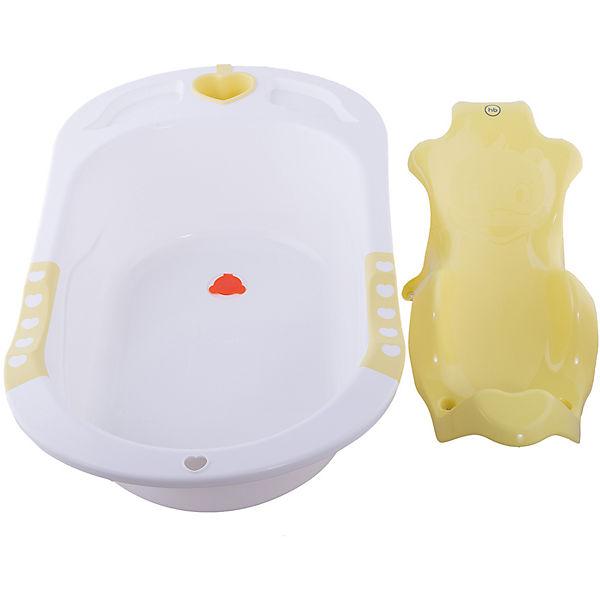 """Ванна детская """"Bath Comfort"""", Happy Baby, желтый"""