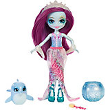 """Кукла Enchantimals """"Морские подружки с друзьями"""" Дольче Дельфина и дельфинчик, 15 см"""