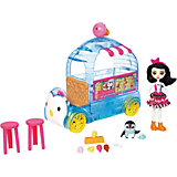 """Игровой набор Enchantimals """"Фургончик мороженого Прины Пингвины"""" 15 см."""