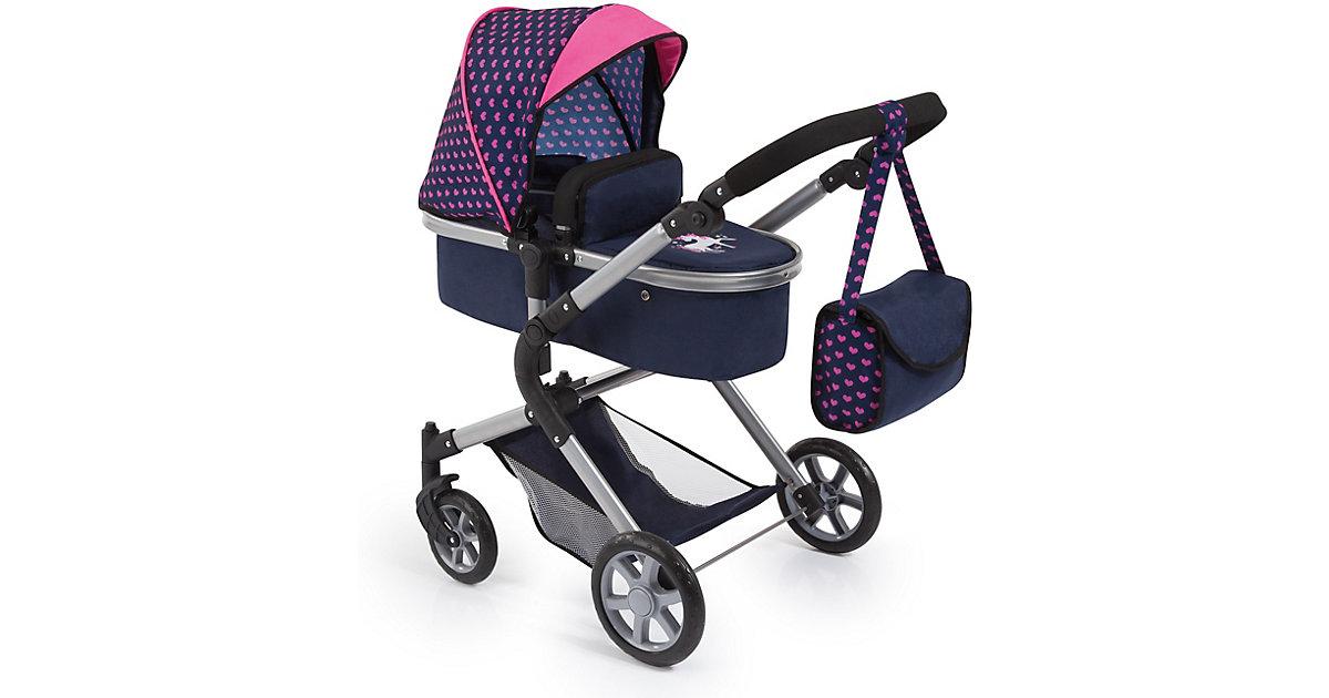 Puppenwagen City Neo, blau/pink mit Einhorn