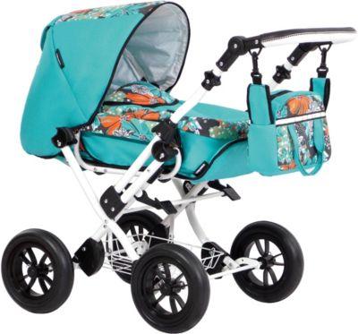 Kombipuppenwagen Zeki Elegance, Hibiskus Mint, Zekiwa Puppenwagen