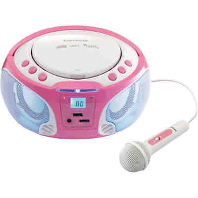 Lenco CD-Player mit USB + Radio SCD-650 pink