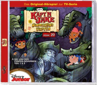 CD Disney Jake Und Die Nimmerland Piraten 20   Die Liga Der Piraten Schurken