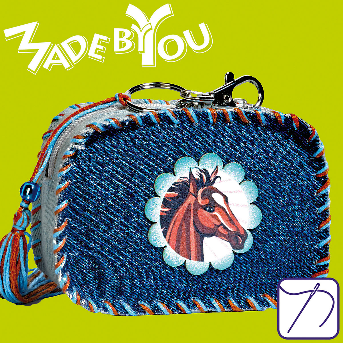 MADE BY YOU Nähset: Patch Me Bag Pferde Busch KihYT