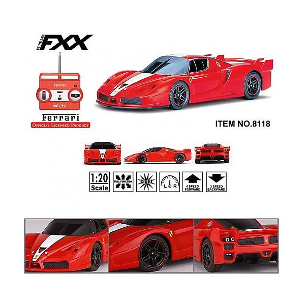 Радиоуправляемая машина MJX Ferrari FXX, 1:20 (красная)