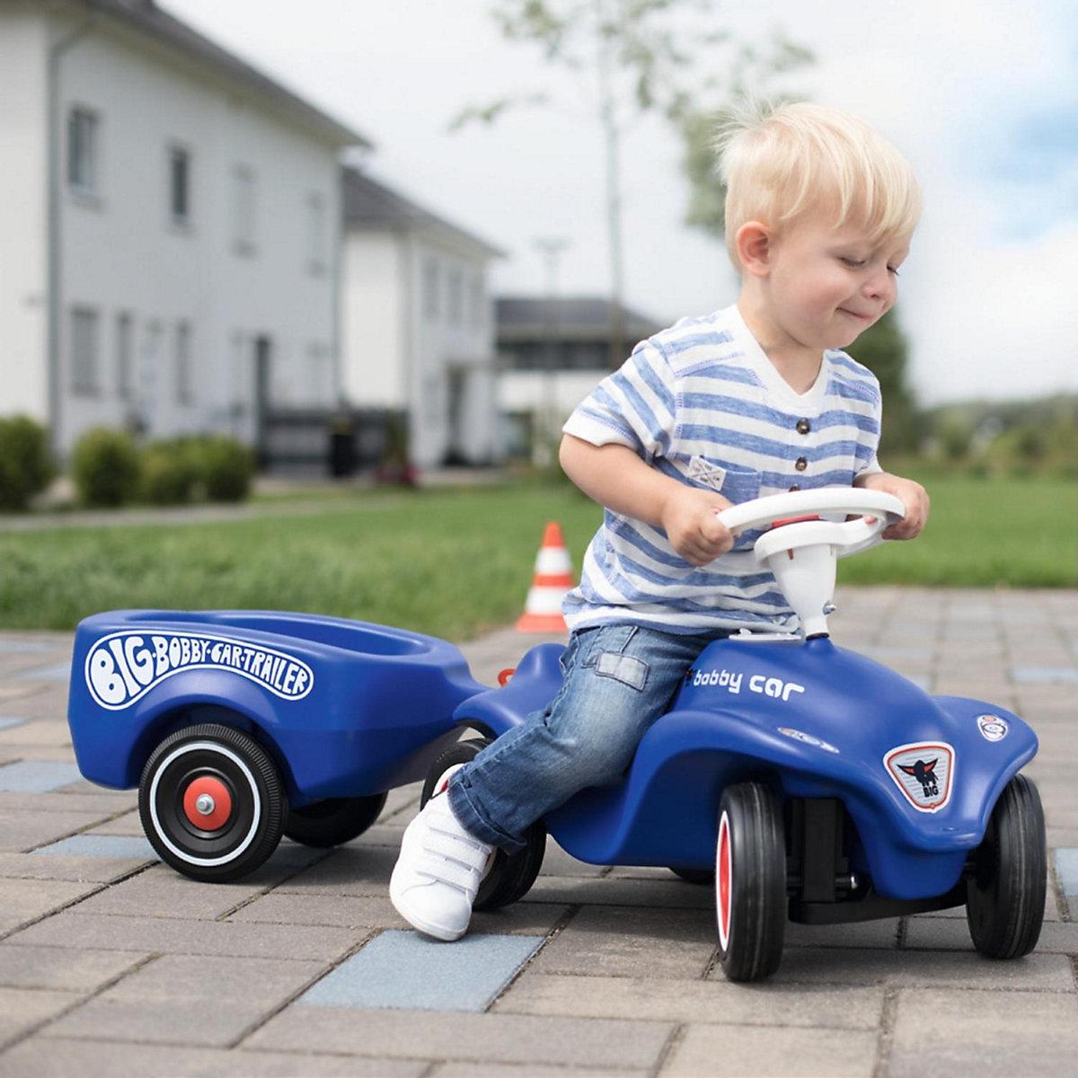 BIG-Bobby-Car-Trailer Royalblau BIG bE57t