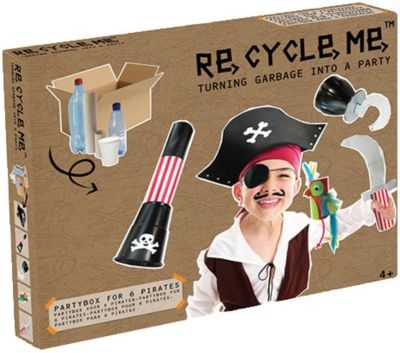 Re-Cycle-Me Party-Bastelbox Piraten: Wir machen aus Abfall kreative Kunst