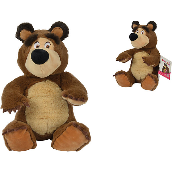 Masha Bean Bag Bär, 20cm, sitzend, Mascha und der der der Bär e19a8b