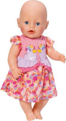 Puppen & Zubehör Babypuppen & Zubehör Puppenkleidung 43cm Kleid mit Rose Baby Born Kleidung Klamotten Junge Mädchen