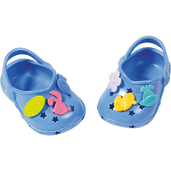 BABY born® Clogs mit Pins Blau