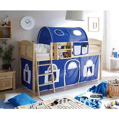 hochbett malte kiefer massiv 90 x 200 cm pirat ticaa. Black Bedroom Furniture Sets. Home Design Ideas