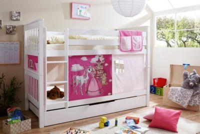 Etagenbett Noah : Etagenbett sammy buche massiv weiß lackiert horse pink 90 x 200