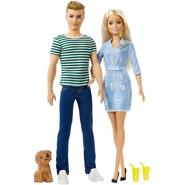 Barbie und Ken Geschenkset mit Hündchen, Barbie
