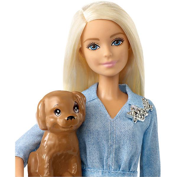 Игровой набор Barbie и Кен на прогулке со щенком
