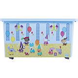 "Ящик для хранения игрушек Little Angel ""Свинка Пеппа"", 57 л., на колесах (голубой)"