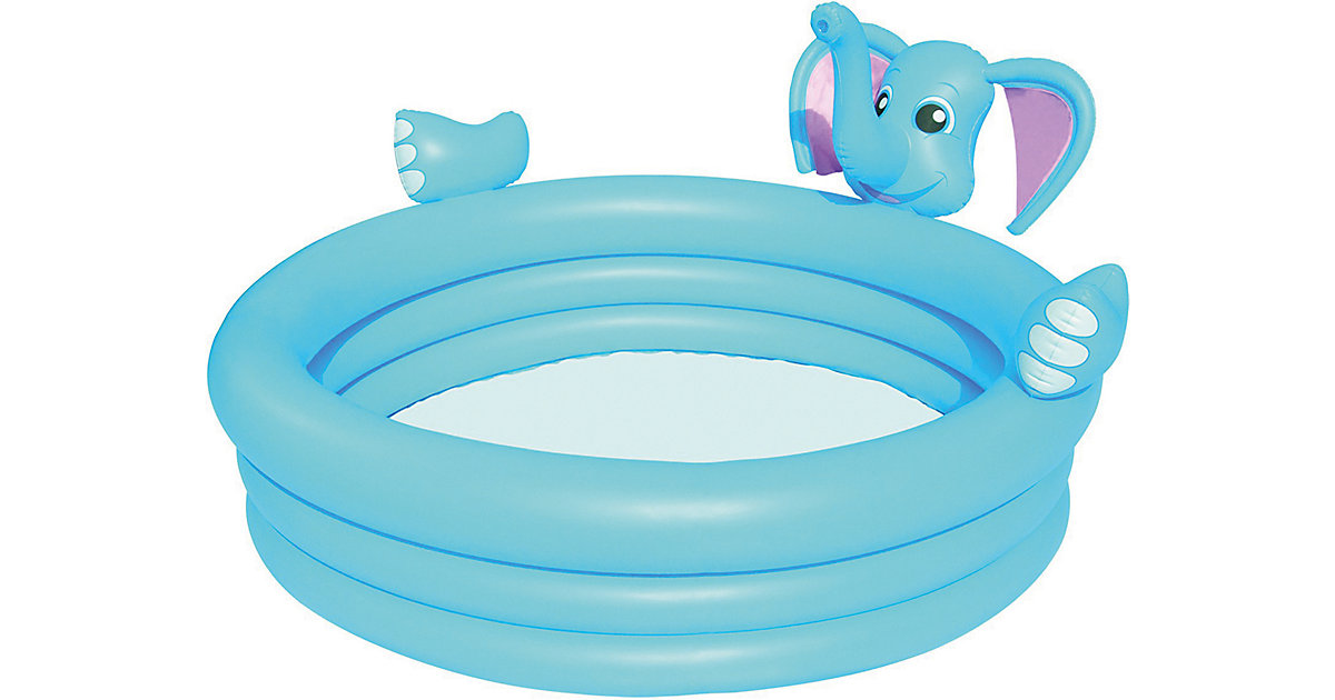 3-Ring Elephant Spray Pool, Planschbecken 152x152x74 cm blau   Garten > Swimmingpools > Schwimmbecken   Bestway