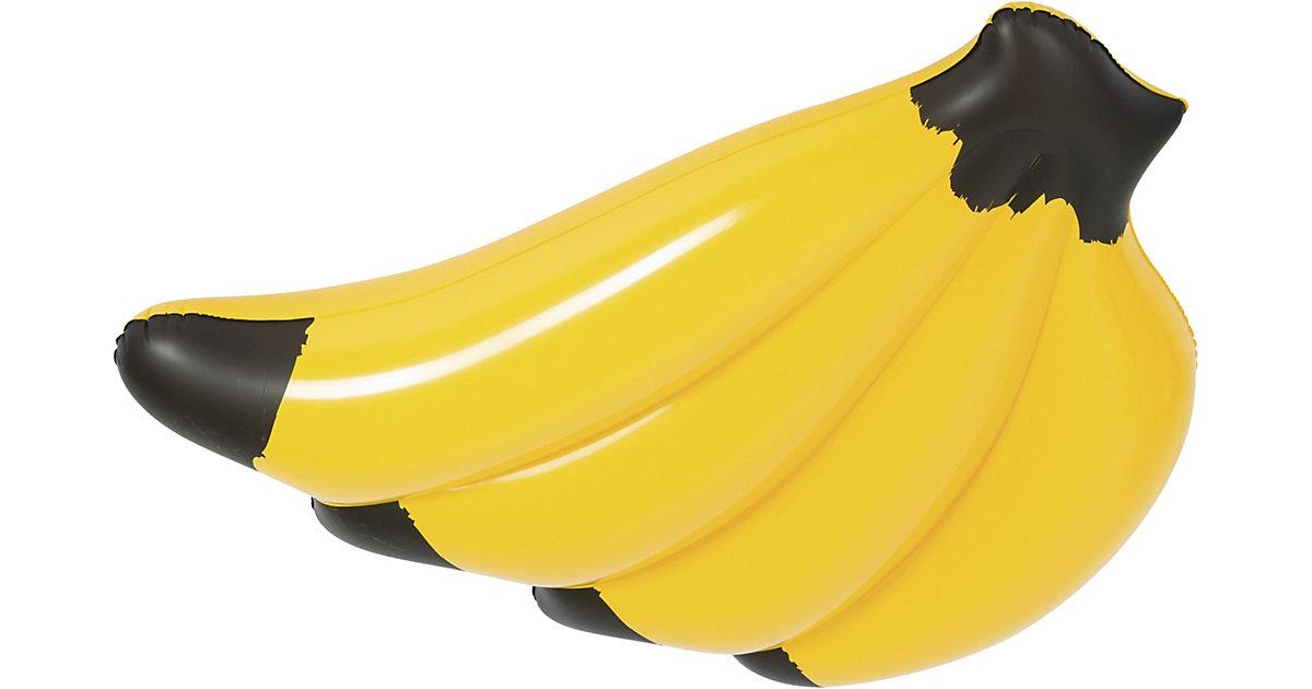 Banana Float 139 x 129 cm, Luftmatratze in Bananenform gelb   Baumarkt > Camping und Zubehör > Luftmatratzen und Isomatten   Bestway