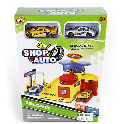 """Автопарковка Shantou Gepai """"Автомобильный магазин"""" + 2 машинки от Shantou Gepai"""