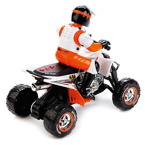 Квадроцикл Toystate с гонщиком (бело-оранжевый) от Toystate