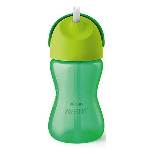Чашка-поильник с трубочкой Philips Avent, 300 мл, зеленый от PHILIPS AVENT