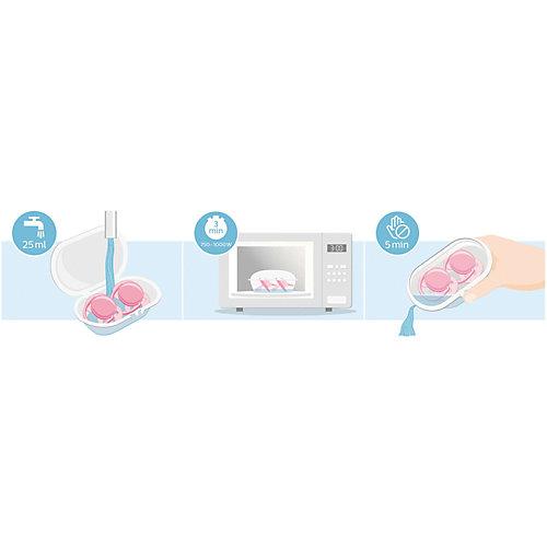 Силиконовая-пустышка Philips Avent, 0-6 мес, 2шт., розовая от PHILIPS AVENT