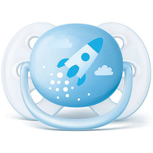 Силиконовая-пустышка Philips Avent, 0-6 мес, 2шт., голубая от PHILIPS AVENT