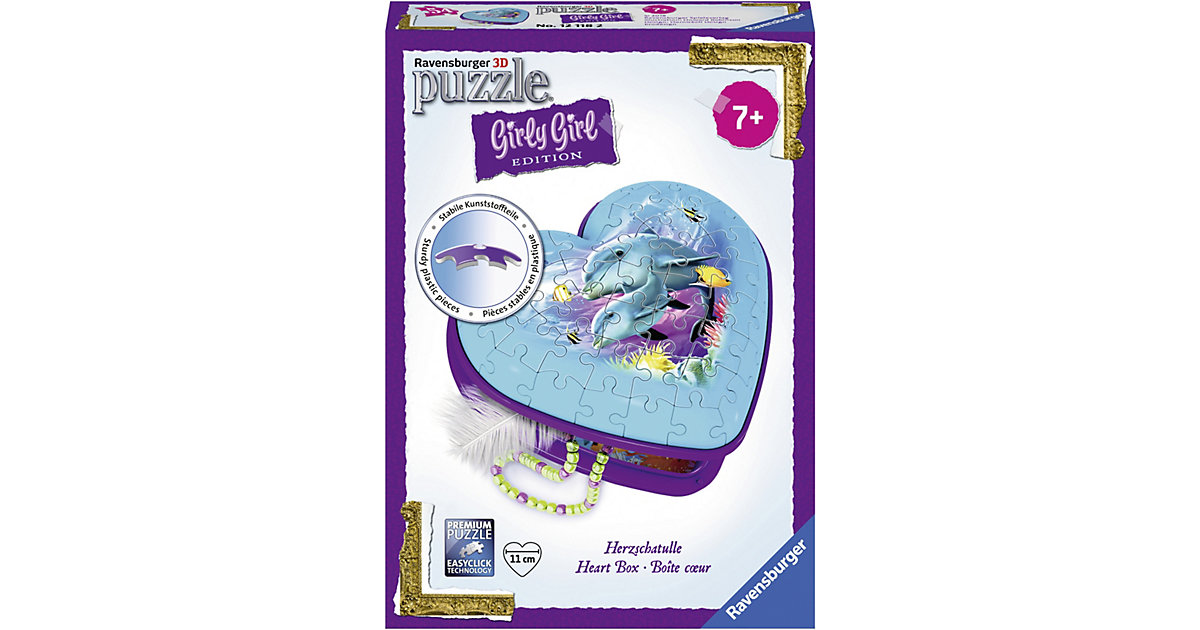 Girly Girl Edition 3D Puzzle Herzschatulle 54 T...