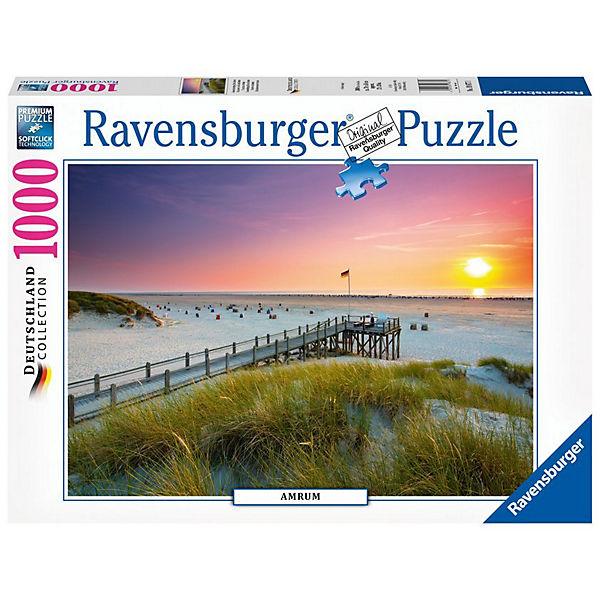Puzzle 1000 Teile Sonnenuntergang über Amrum, Ravensburger