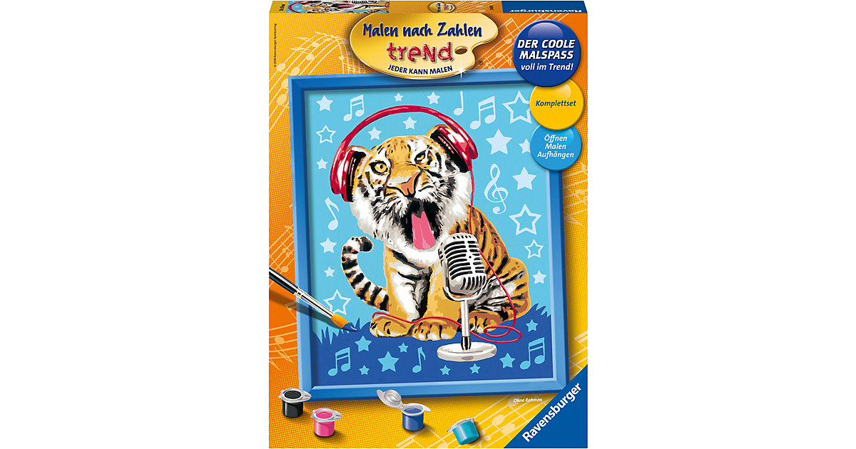 Malen nach Zahlen Serie C Singing Tiger