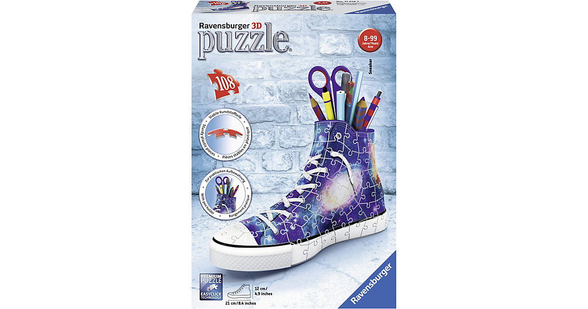 3D Puzzle 108 Teile Galaxy Sneaker