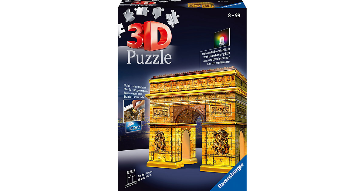 3D Puzzle 216 Teile Triumphbogen Night Edition