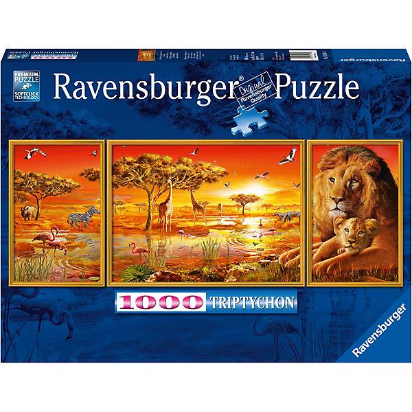Puzzle 1000 Teile Afrikanische Impressionen, Ravensburger