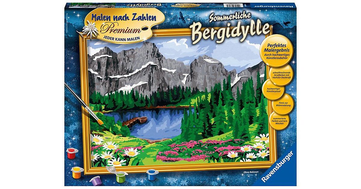Malen nach Zahlen Premium Sommerliche Bergidylle