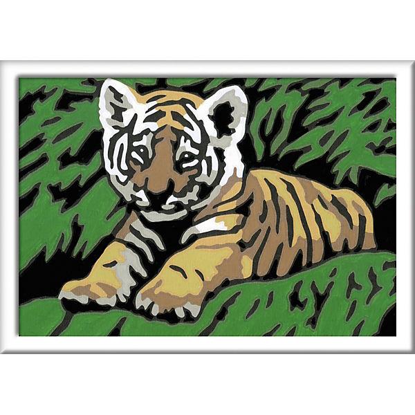 Malen Nach Zahlen 85x12 Cm Mit Farbigen Motivlinien Süßer Tiger Ravensburger