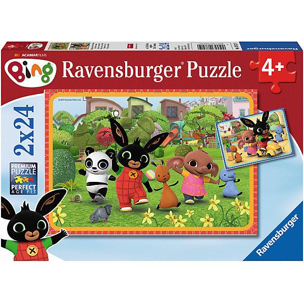 Puzzleset 2 x 24 Teile Bing und seine Freunde, Ravensburger