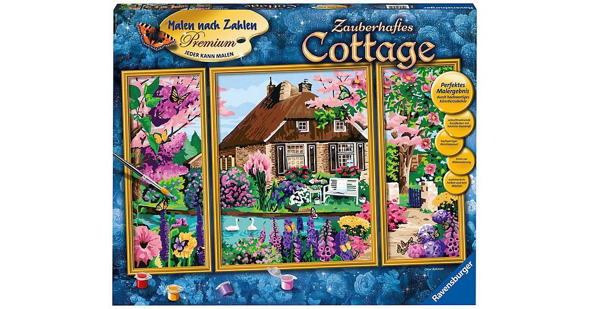 Ravensburger · Malen nach Zahlen Serie Premium Zauberhaftes Cottage
