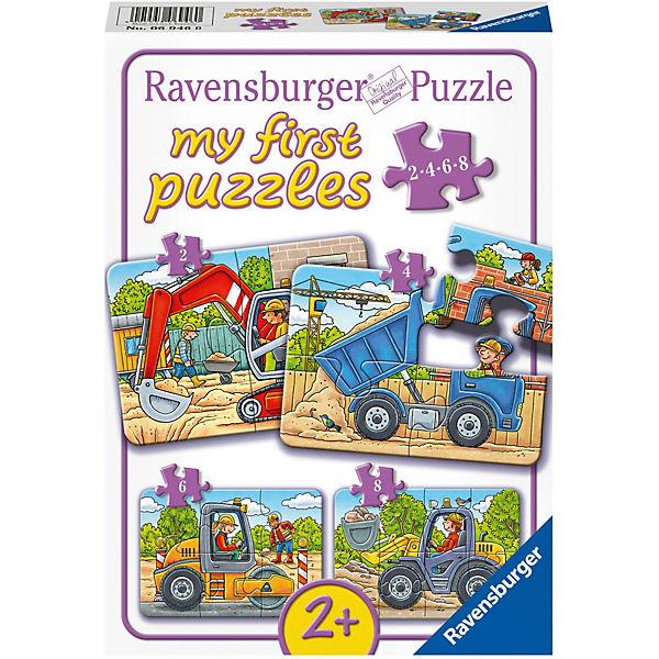 My first Puzzles 2/4/6/8 Teile Meine liebsten Baustellenfahrzeuge, Ravensburger