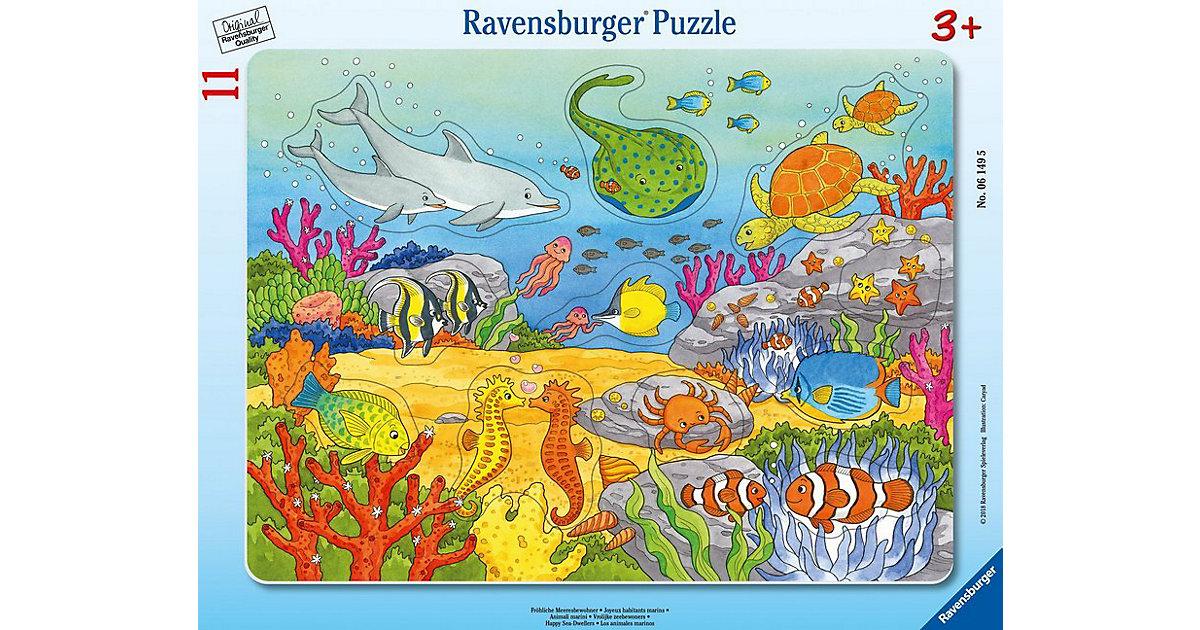 Rahmenpuzzle 11 Teile Fröhliche Meeresbewohner