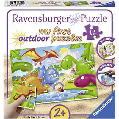 my first Outdoor-Puzzle, 12 Teile, 26x18 cm, Dinosaurier Freunde