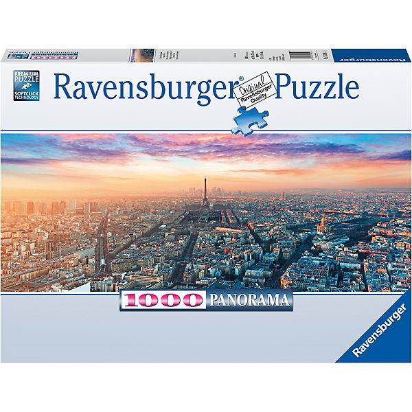 Puzzle 1000 Teile 98x37 Cm Panorama Paris Im Morgenglanz Ravensburger