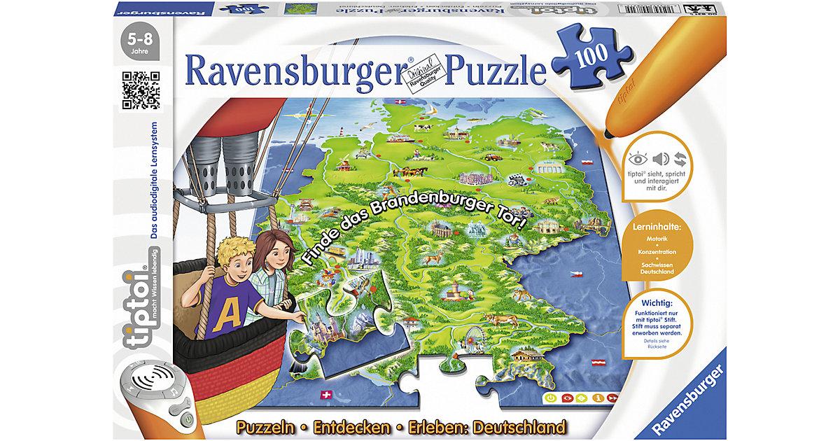 tiptoi® Puzzle 100 Teile Entdecken Deutschland (ohne Stift)