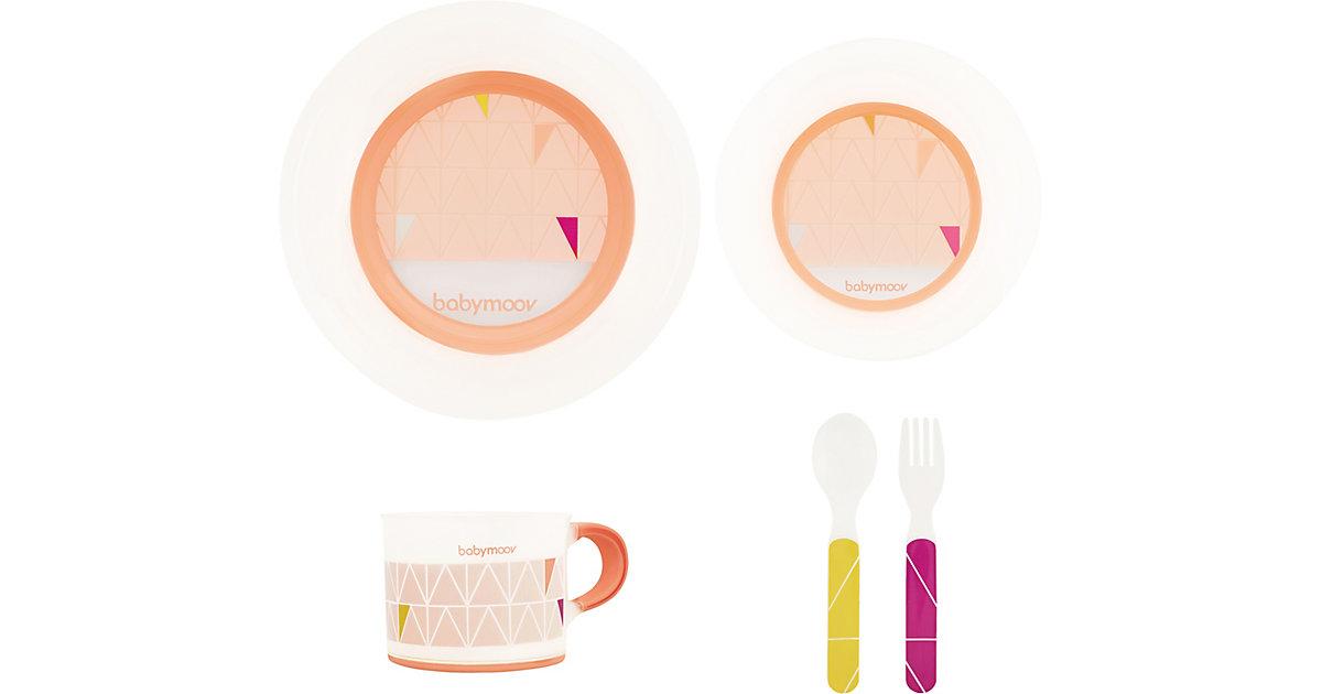 babymoov · Geschirr Set mit Antirutsch-System, peach