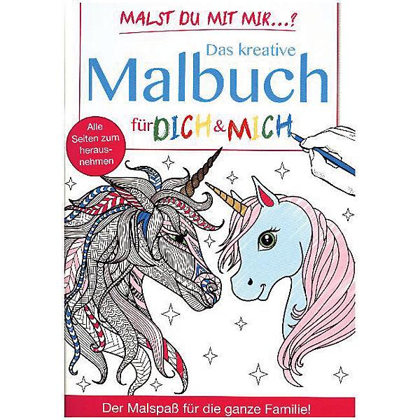 Malst du mit mir?: Das kreative Malbuch für Dich & Mich - Einhörner ...